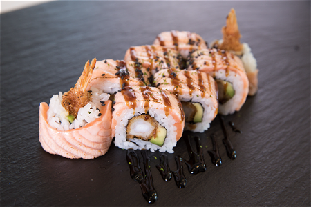 Foto Orange Dragon roll